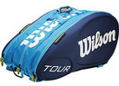 WILSON СУМКА ТЕННИСНАЯ TOUR MOLDED JUICE BLUE 15-PACK