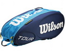 WILSON СУМКА ТЕННИСНАЯ TOUR MOLDED JUICE BLUE 9-PACK