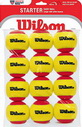 WILSON STARTER RED STAGE 3 (12 BALL) ТЕННИСНЫЕ МЯЧИ