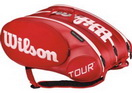 WILSON СУМКА ТЕННИСНАЯ TOUR MOLDED 2.0 RED 15-PACK