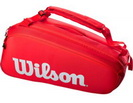 WILSON СУМКА ТЕННИСНАЯ SUPER TOUR 9 PACK RED