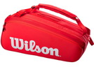WILSON СУМКА ТЕННИСНАЯ SUPER TOUR 15 PACK RED